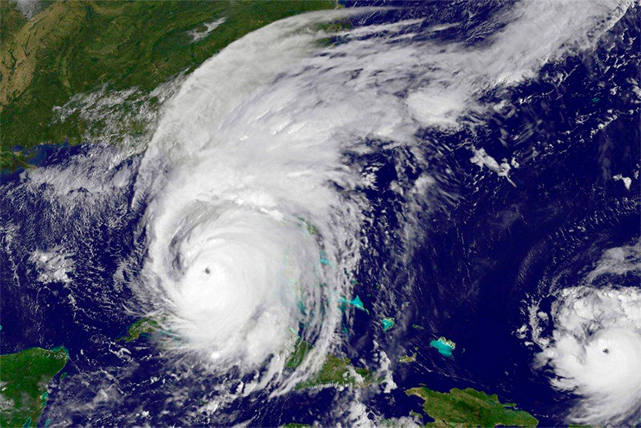 Hurricane Irma and Hurricane Jose, Satellite Image