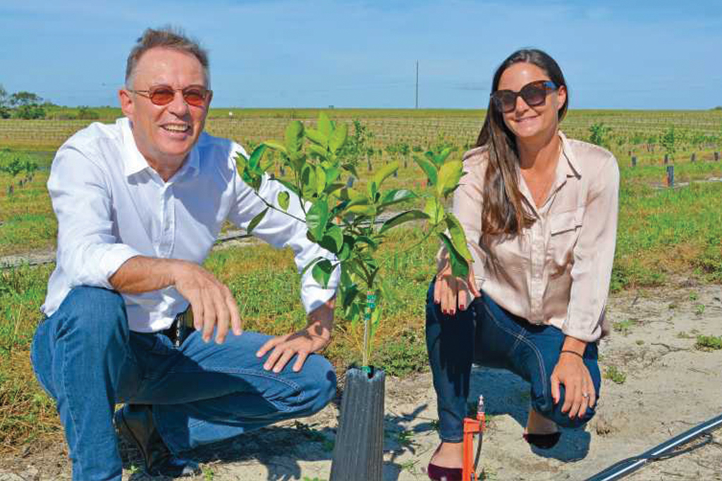 IMG Citrus President Michel Sallin and his daughter and company CFO Melanie Ressler believe there is a good future for fresh fruit varieties in Florida. Photo by Frank Giles